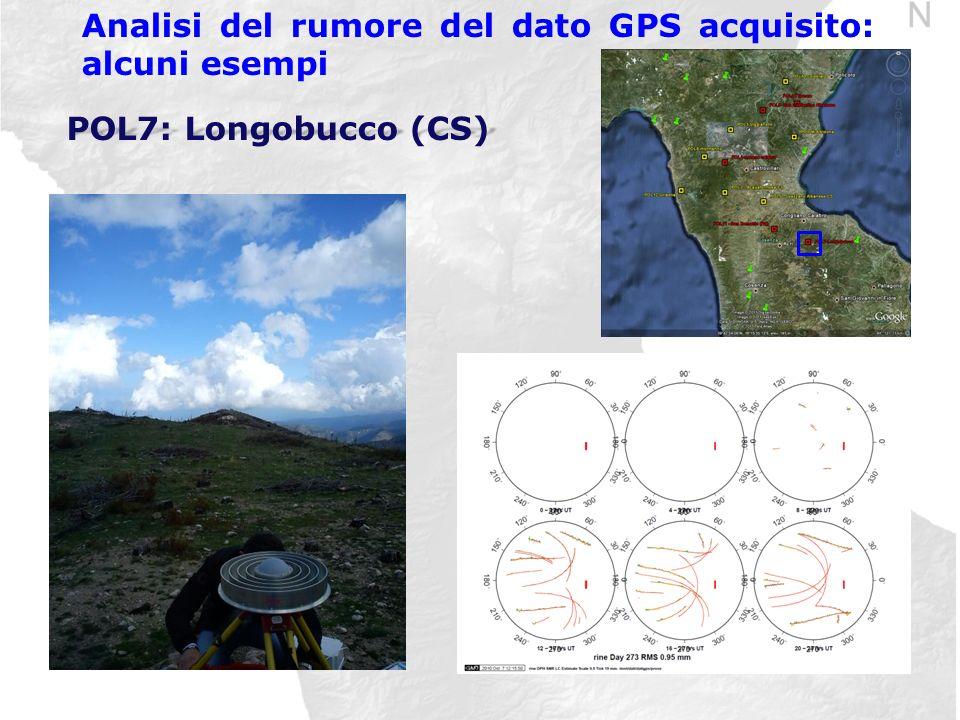 Analisi del rumore del dato GPS acquisito: alcuni esempi POL7: Longobucco (CS)