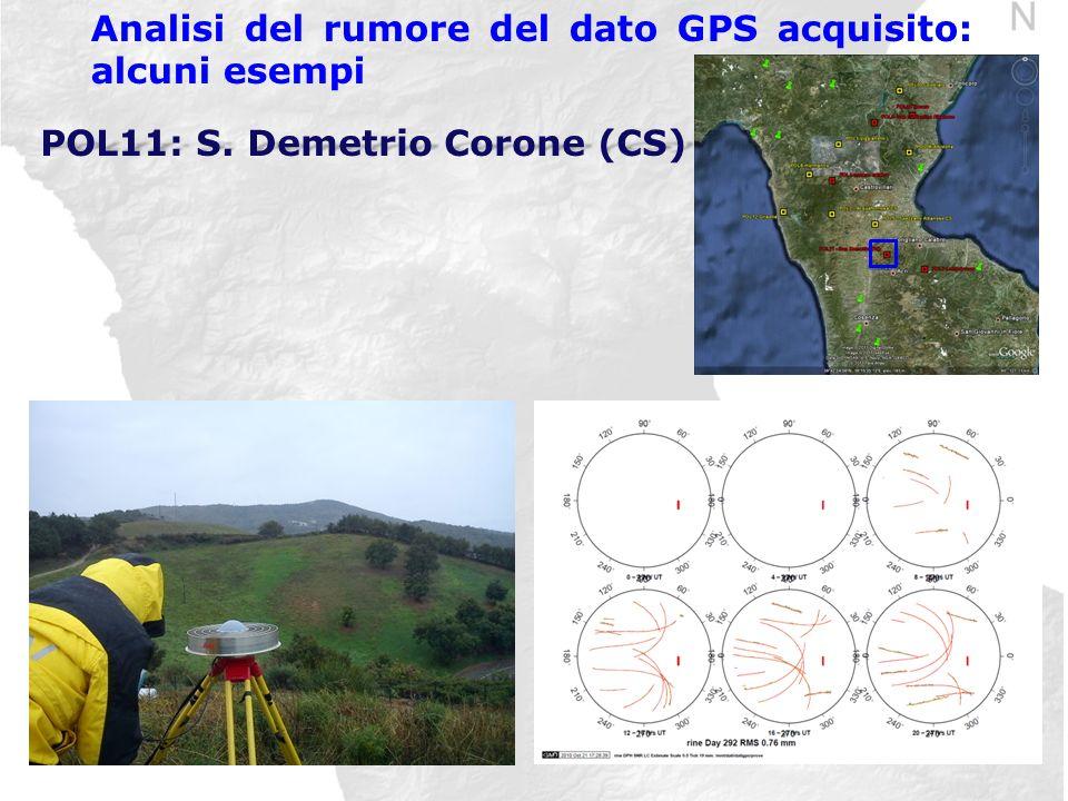 Analisi del rumore del dato GPS acquisito: alcuni esempi POL11: S. Demetrio Corone (CS)