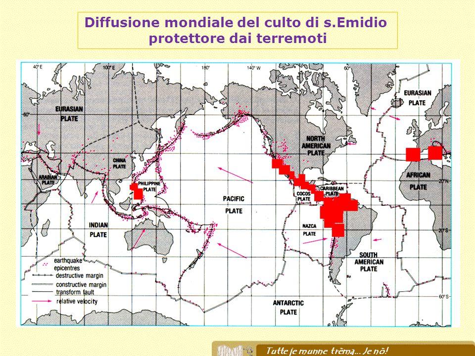 Diffusione mondiale del culto di s.Emidio protettore dai terremoti