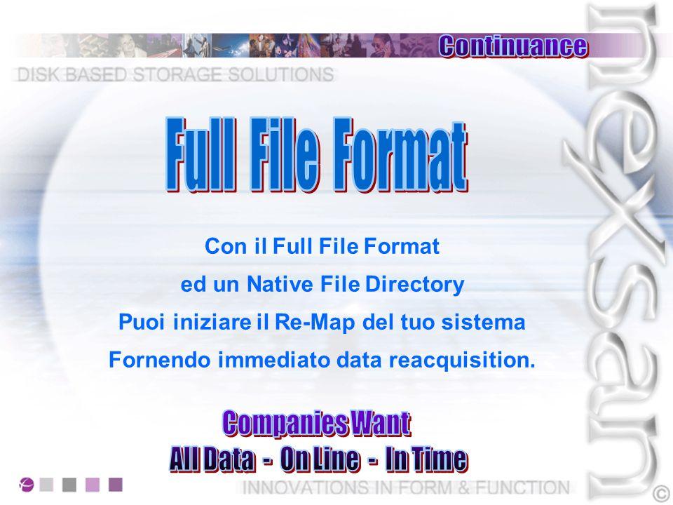 Ogni sistema che immagazzina i dati in formato compresso o proprietario richiede si possa recuperare o sostituire lHW DANNEGGIATO prima di iniziare il restore