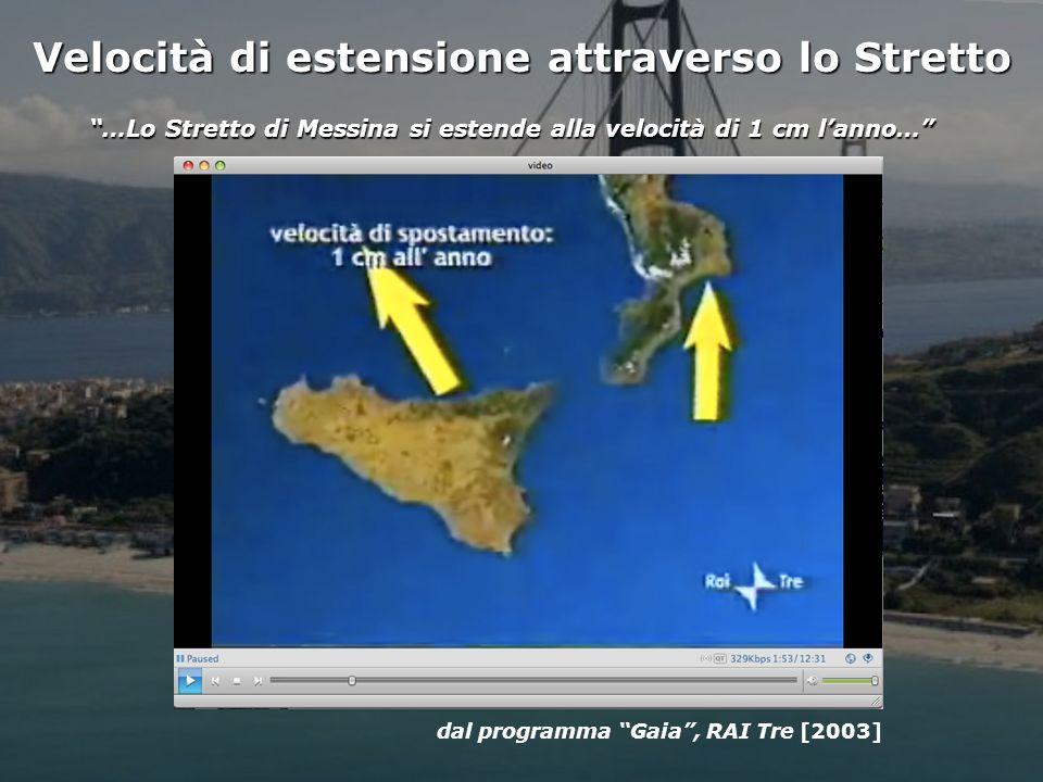 Istituto Nazionale di Geofisica e Vulcanologia Velocità di estensione attraverso lo Stretto …Lo Stretto di Messina si estende alla velocità di 1 cm lanno… dal programma Gaia, RAI Tre [2003]