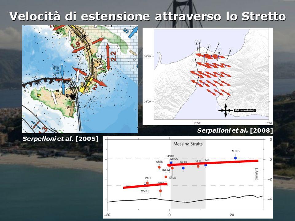 Istituto Nazionale di Geofisica e Vulcanologia Velocità di estensione attraverso lo Stretto Serpelloni et al.