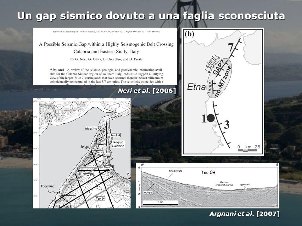 Istituto Nazionale di Geofisica e Vulcanologia Un gap sismico dovuto a una faglia sconosciuta Neri et al.