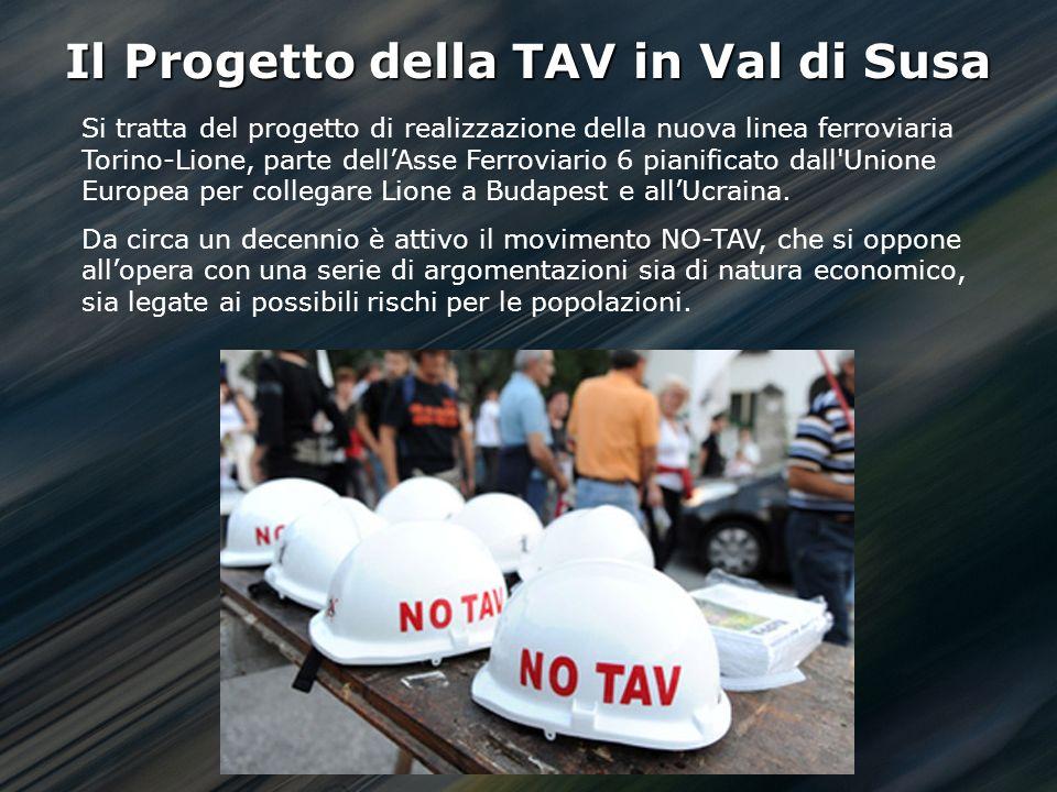 Istituto Nazionale di Geofisica e Vulcanologia Il Progetto della TAV in Val di Susa Si tratta del progetto di realizzazione della nuova linea ferroviaria Torino-Lione, parte dellAsse Ferroviario 6 pianificato dall Unione Europea per collegare Lione a Budapest e allUcraina.