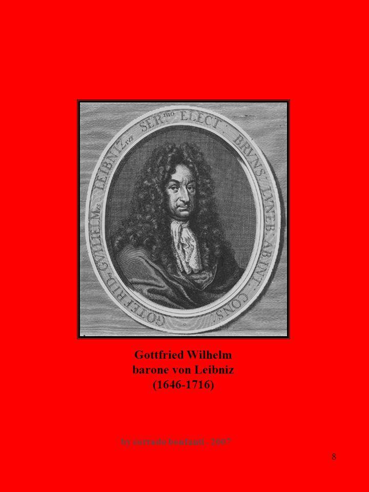 8 Gottfried Wilhelm barone von Leibniz (1646-1716) by corrado bonfanti - 2007