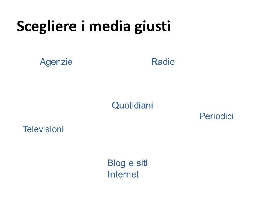 AgenzieRadio Televisioni Quotidiani Periodici Scegliere i media giusti Blog e siti Internet