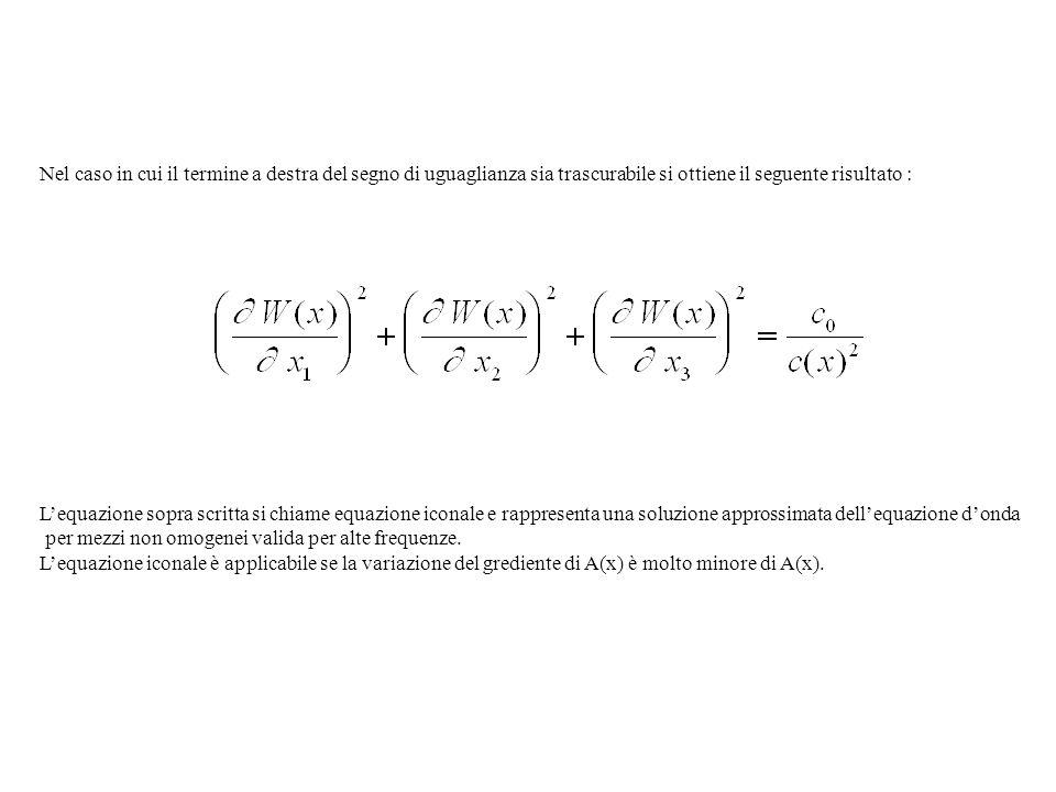 Nel caso in cui il termine a destra del segno di uguaglianza sia trascurabile si ottiene il seguente risultato : Lequazione sopra scritta si chiame eq