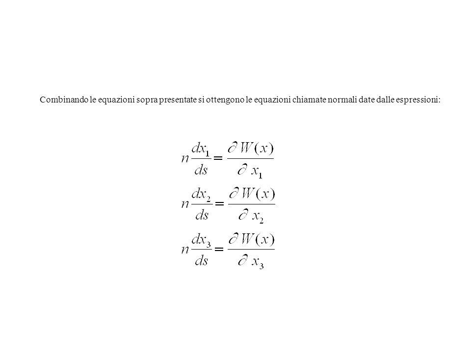 Combinando le equazioni sopra presentate si ottengono le equazioni chiamate normali date dalle espressioni: