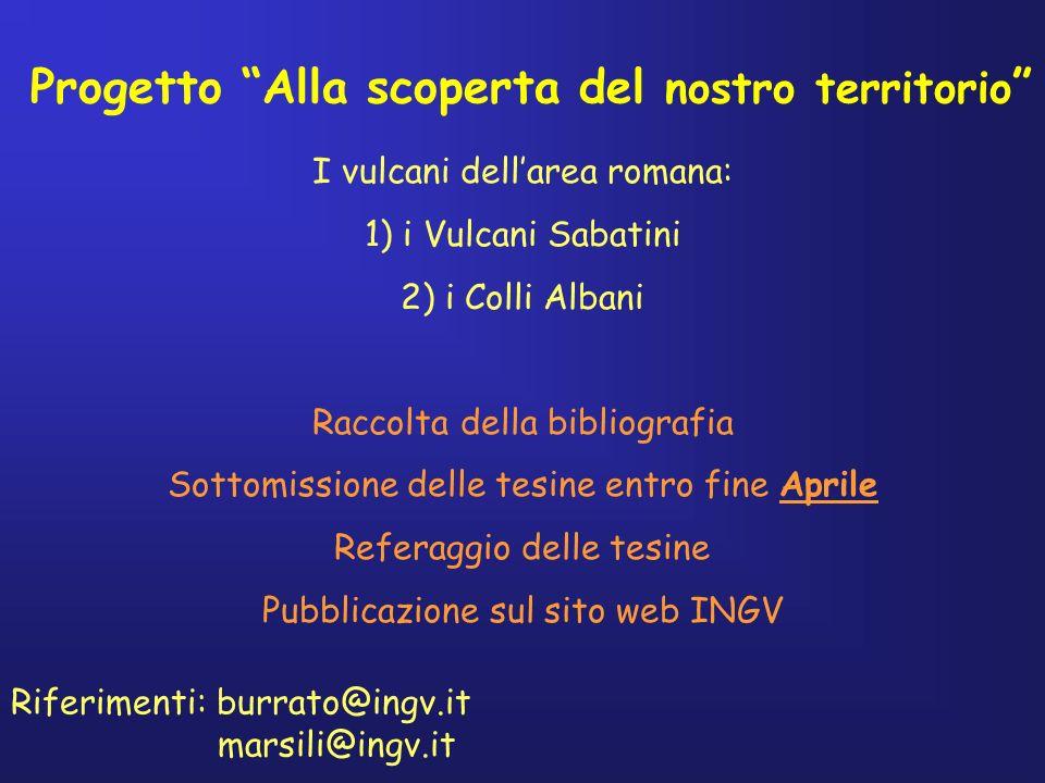 Siti internet interessanti dove sapere di più sui terremoti e i vulcani italiani http://www.ingv.it/ http://www.ingv.it/banchedati/banche.html http://boris.vulcanoetna.com/Italiahome.html informazioni su terremoti nel mondo e scienze della terra http://www.usgs.gov/ http://education.usgs.gov/ informazioni su tsunami e metereologia http://www.noaa.gov/ http://www.education.noaa.gov/