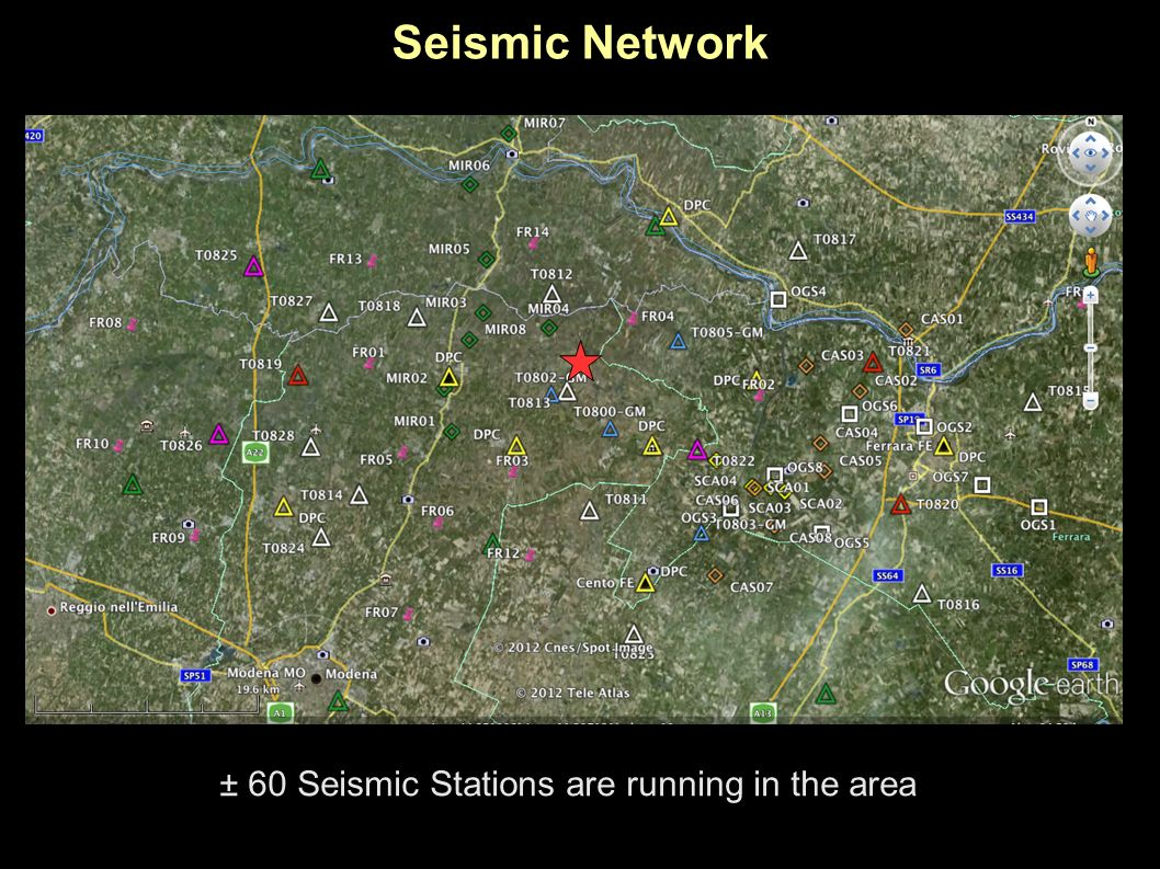 Seismic Network ± 60 Seismic Stations are running in the area