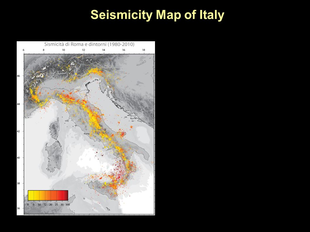 Seismicity Map of Italy