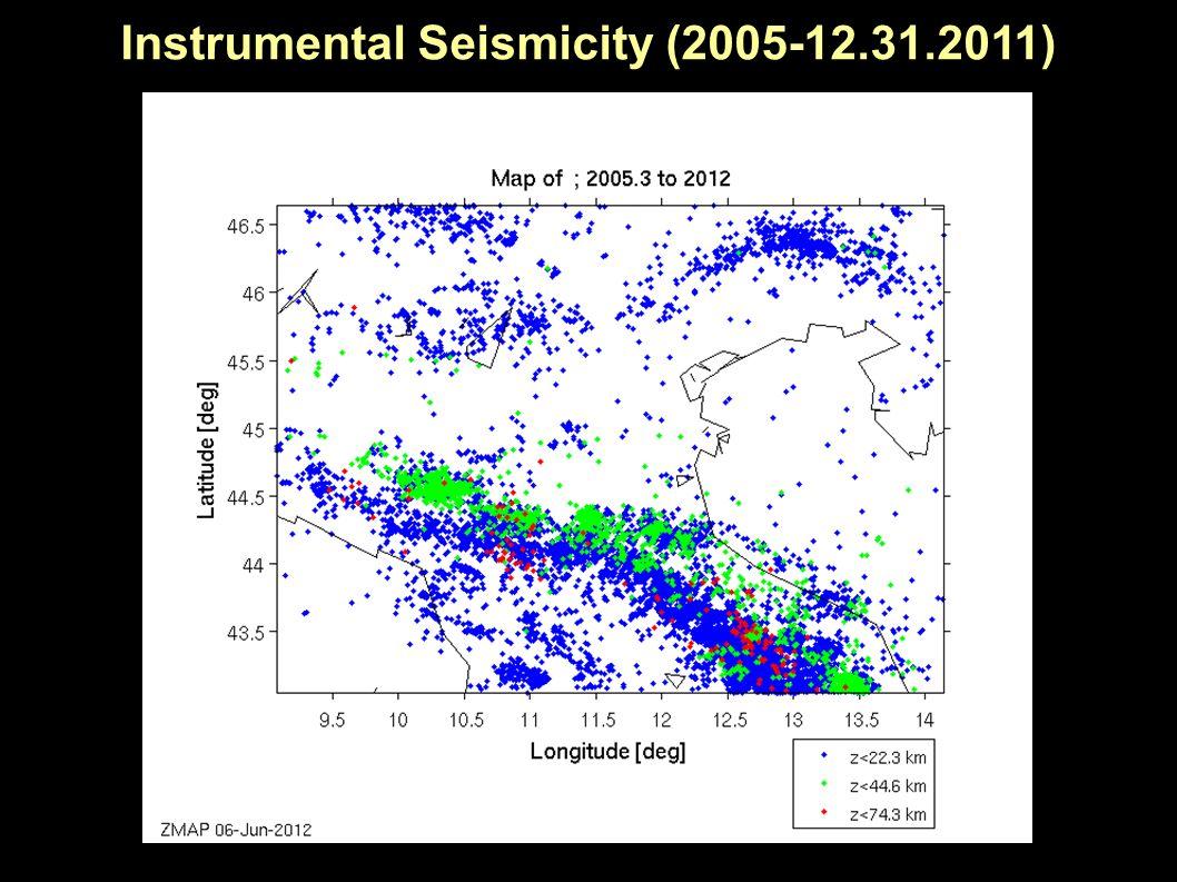 Instrumental Seismicity (1.1.2012-present)