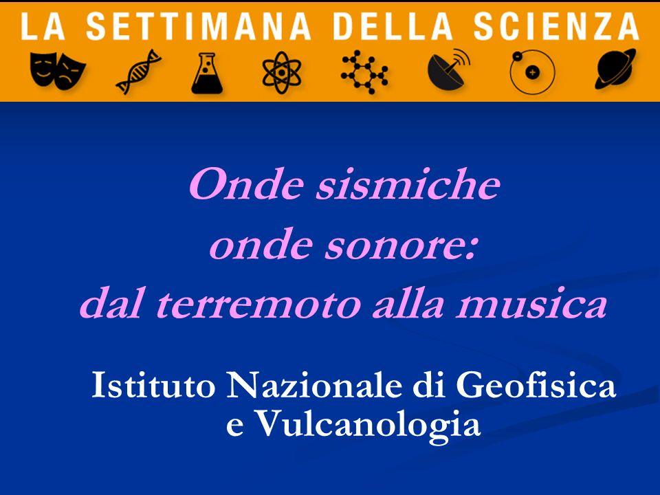 Antonella Marsili Istituto Nazionale di Geofisica e Vulcanologia Parliamo di Scienza