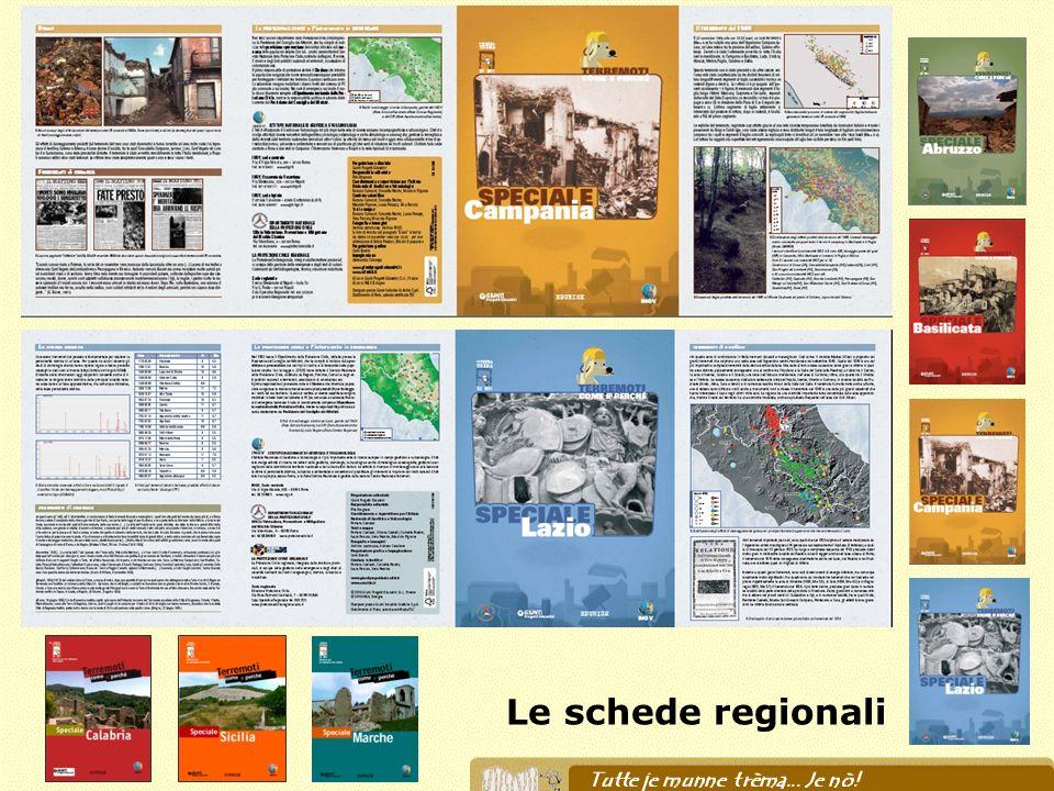Le schede regionali