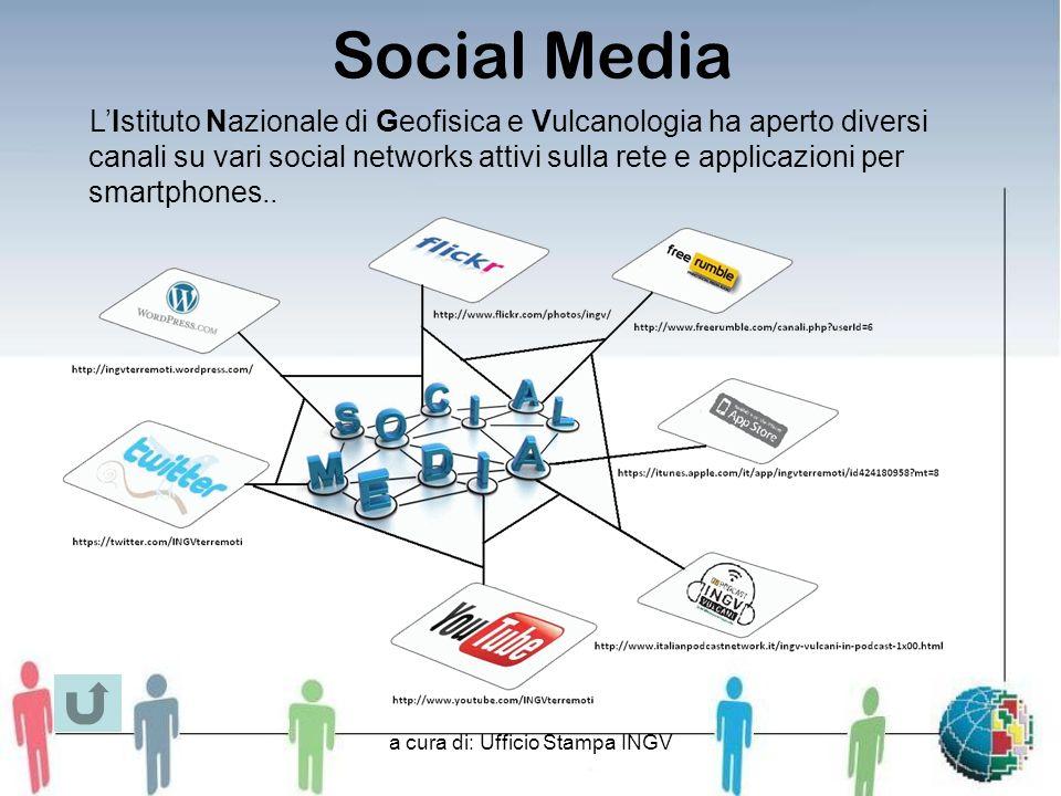 a cura di: Ufficio Stampa INGV Social Media LIstituto Nazionale di Geofisica e Vulcanologia ha aperto diversi canali su vari social networks attivi sulla rete e applicazioni per smartphones..