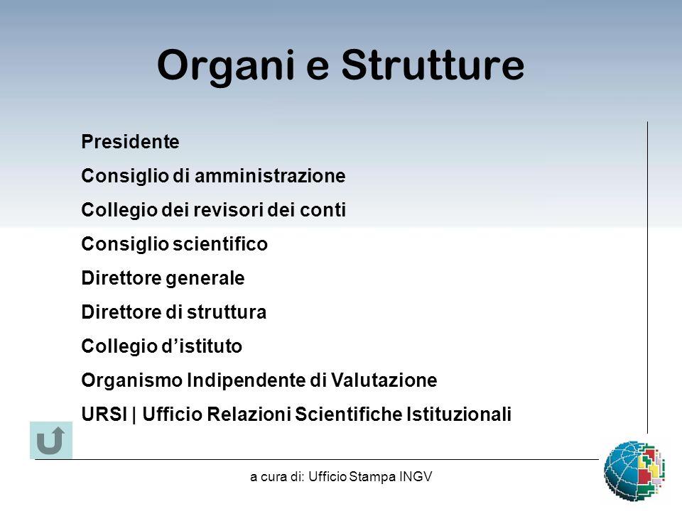 a cura di: Ufficio Stampa INGV Organismo Indipendente di Valutazione Con Delibera n.