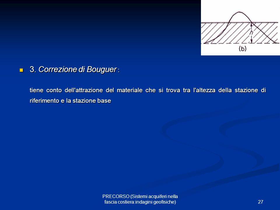 27 PRECORSO (Sistemi acquiferi nella fascia costiera:indagini geofisiche) 3.