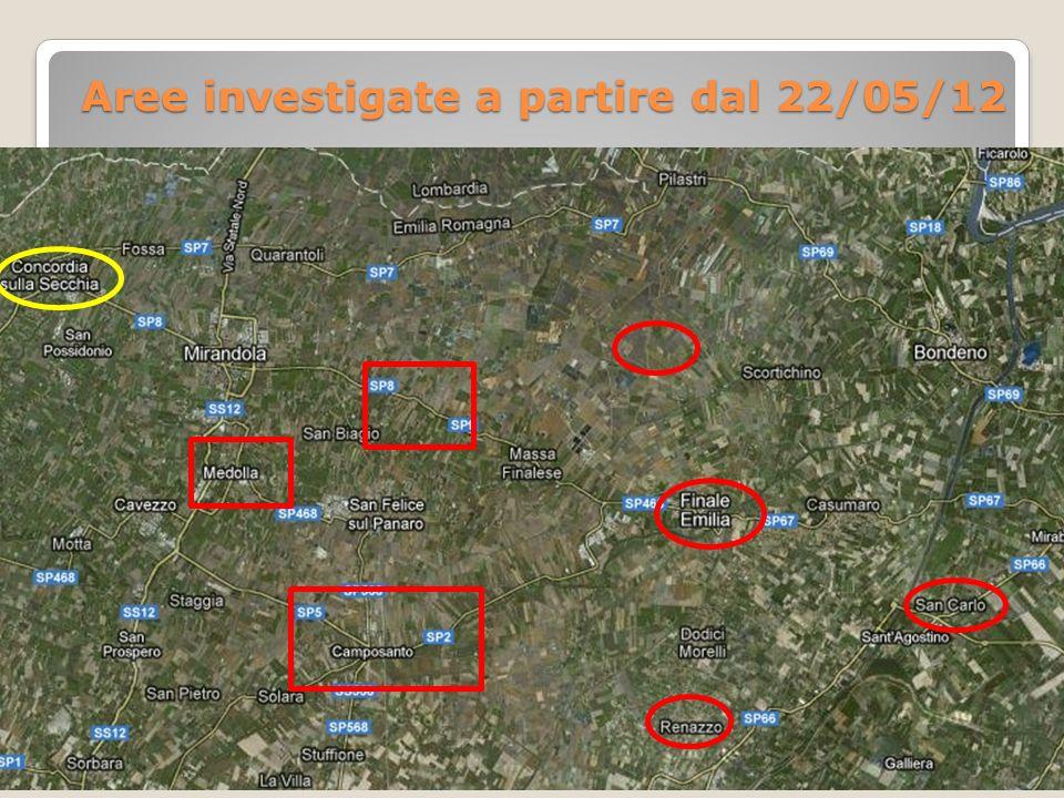 Aree investigate Aree investigate a partire dal 22/05/12