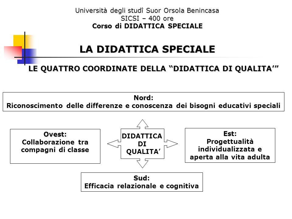 Università degli studî Suor Orsola Benincasa SICSI – 400 ore Corso di DIDATTICA SPECIALE LA DIDATTICA SPECIALE LE QUATTRO COORDINATE DELLA DIDATTICA D