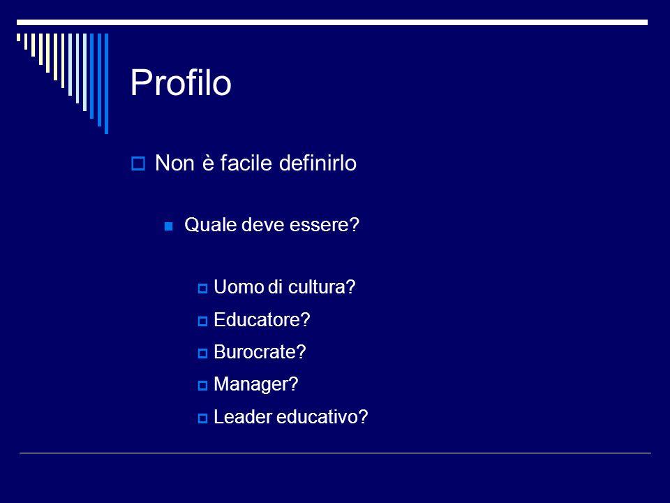 Profilo La parola manager non ha un significato negativo Dirigente, direttore, amministratore Gestore