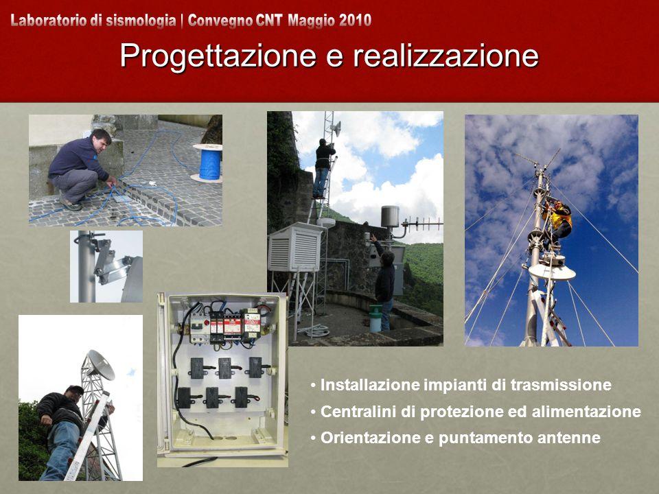 Progettazione e realizzazione Installazione impianti di trasmissione Centralini di protezione ed alimentazione Orientazione e puntamento antenne