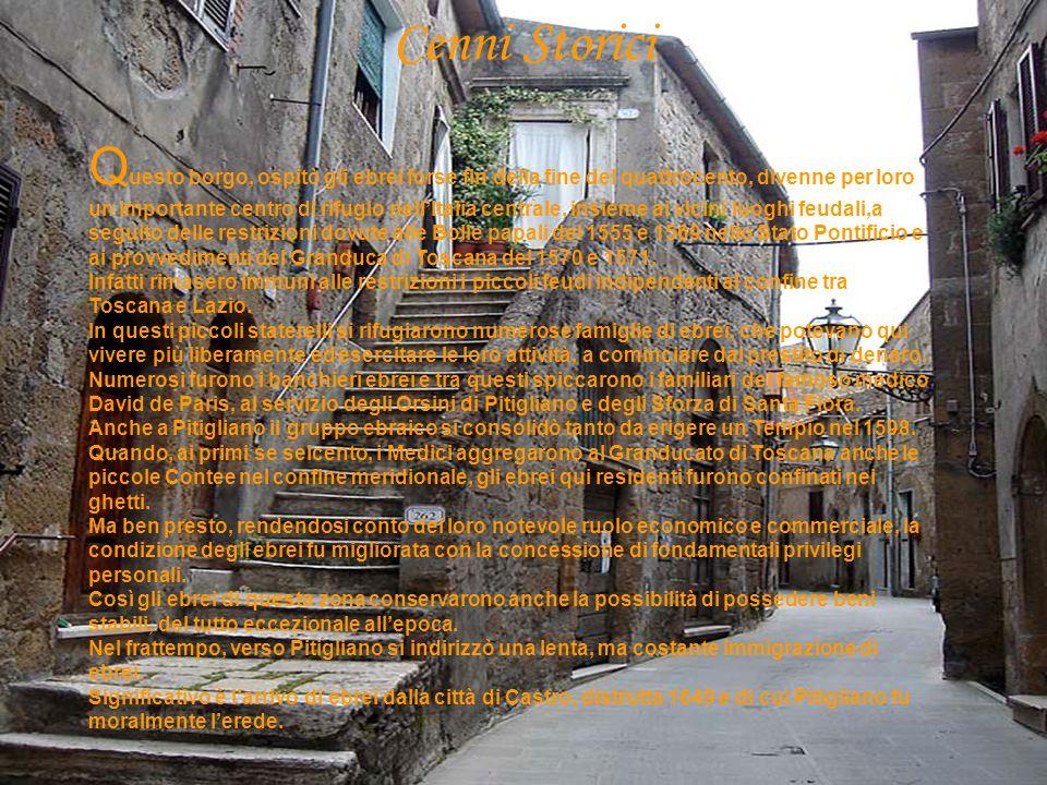 Cenni storici 2 parte Nella seconda metà del settecento, la riforma illuministica dei Lorena, nuovi Granduchi di Toscana, permisero anche agli ebrei di accedere parzialmente alle cariche comunali.