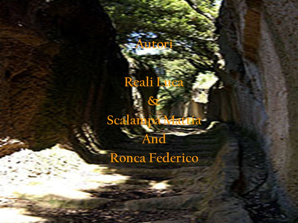 Autori Reali Luca & Scalampa Mattia And Ronca Federico