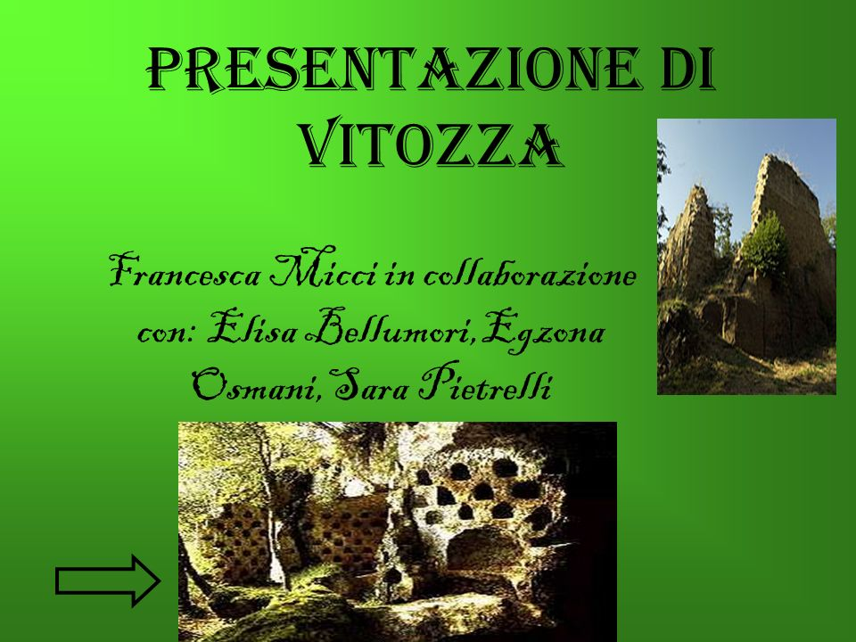 Francesca Micci in collaborazione con: Elisa Bellumori,Egzona Osmani,Sara Pietrelli Presentazione di Vitozza