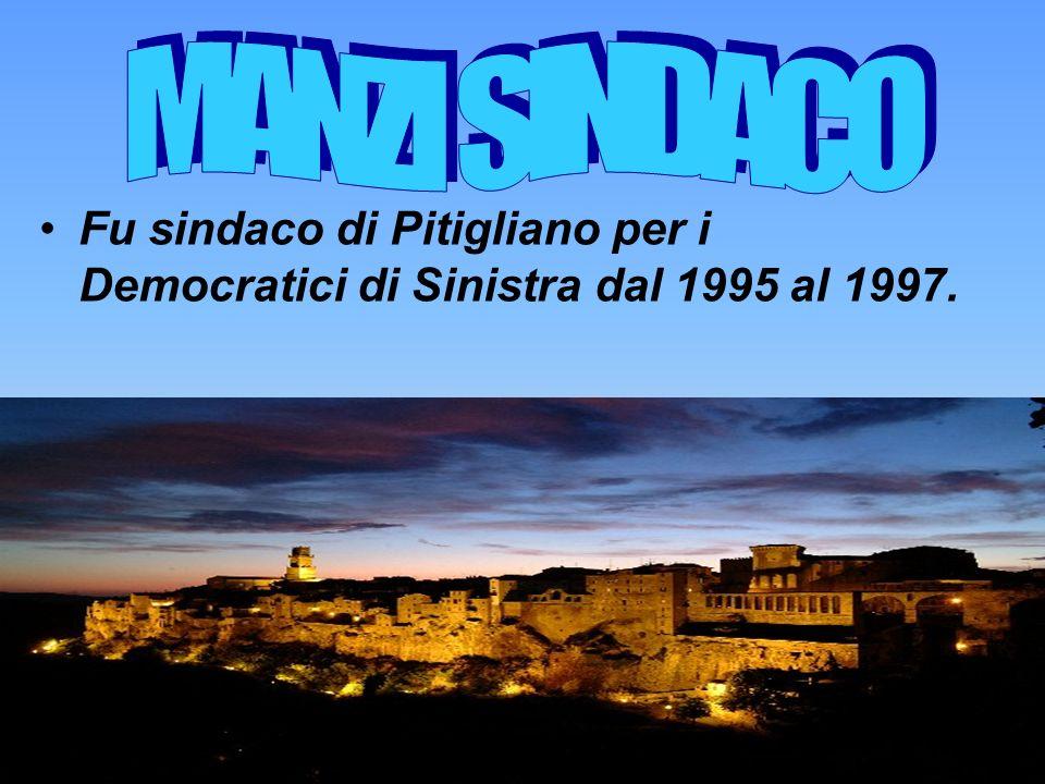 Fu sindaco di Pitigliano per i Democratici di Sinistra dal 1995 al 1997.
