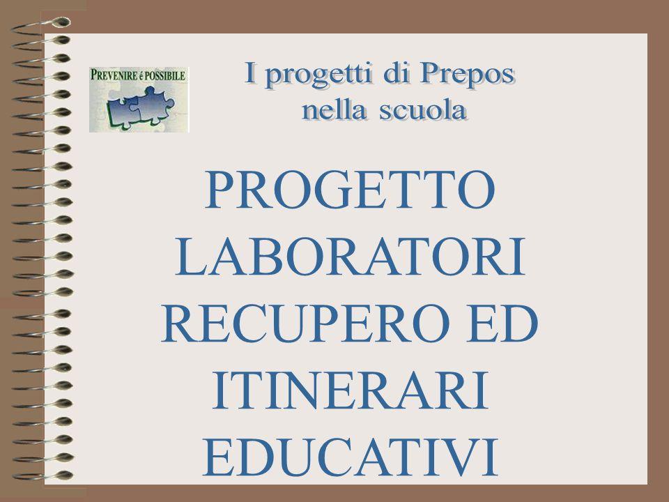 PROGETTO LABORATORI RECUPERO ED ITINERARI EDUCATIVI