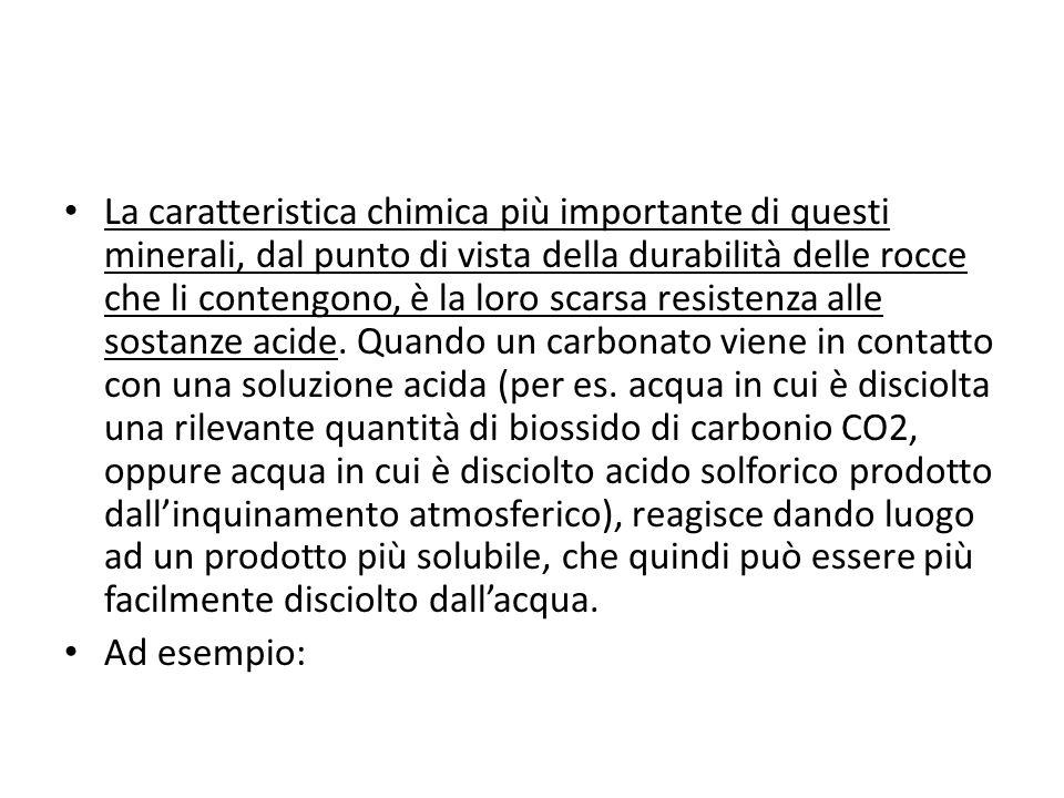 Monominerali: quarzo, calcare Poliminerali: basalto, granito
