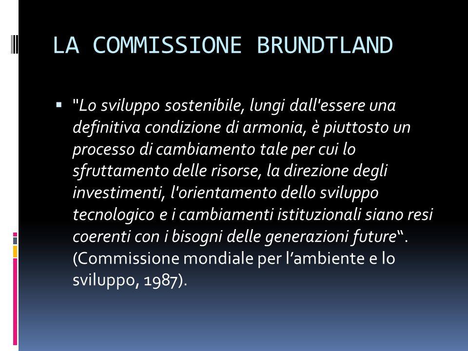 LA COMMISSIONE BRUNDTLAND