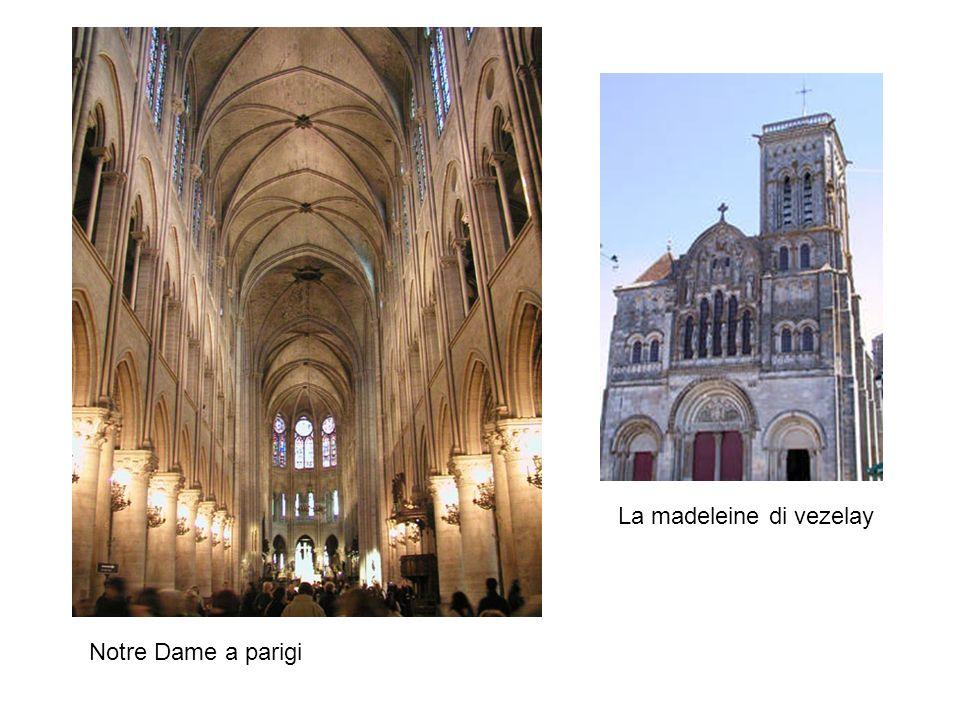 Notre Dame a parigi La madeleine di vezelay