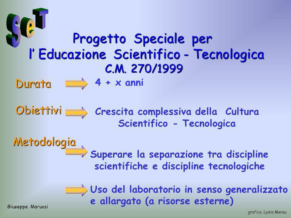 Progetto Speciale per l Educazione Scientifico - Tecnologica l Educazione Scientifico - Tecnologica C.M.