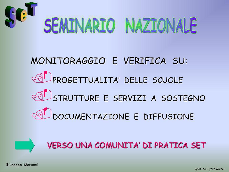 Giuseppe Marucci grafica. Lydia Mereu MONITORAGGIO E VERIFICA SU:.