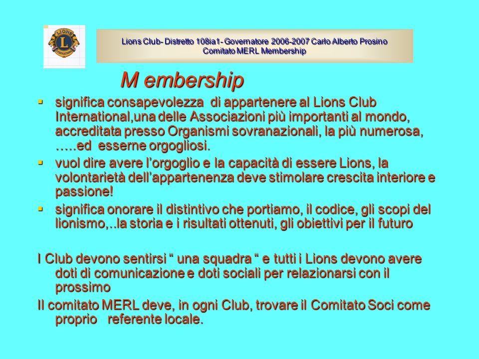 M embership M embership significa consapevolezza di appartenere al Lions Club International,una delle Associazioni più importanti al mondo, accreditat
