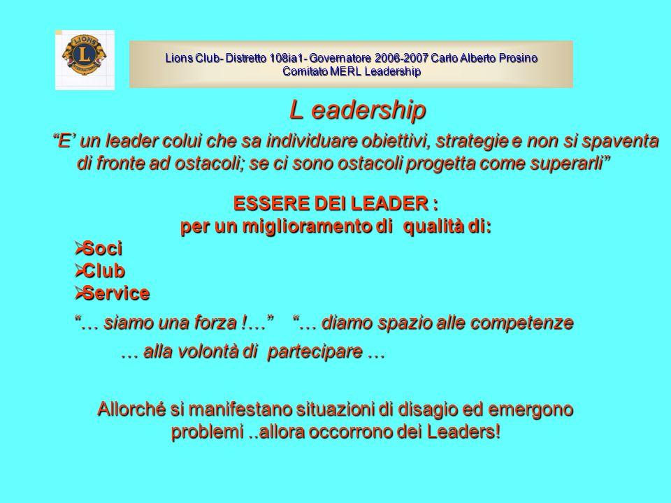 L eadership E un leader colui che sa individuare obiettivi, strategie e non si spaventa di fronte ad ostacoli; se ci sono ostacoli progetta come super
