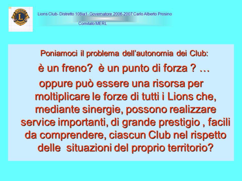 Poniamoci il problema dellautonomia dei Club: Poniamoci il problema dellautonomia dei Club: è un freno? è un punto di forza ? … è un freno? è un punto