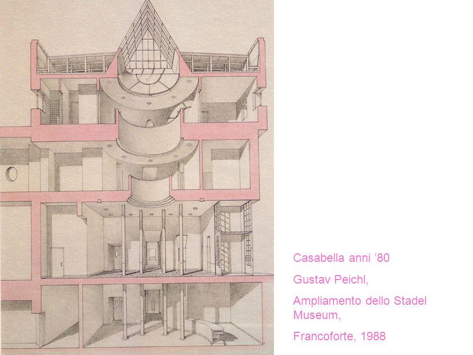 Casabella anni 80 Gustav Peichl, Ampliamento dello Stadel Museum, Francoforte, 1988