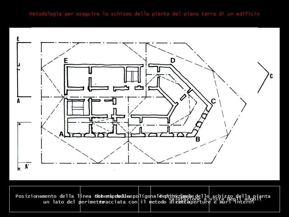 Definizione dello schizzo della pianta con aperture e muri interni Metodologia per eseguire lo schizzo della pianta del piano terra di un edificio Pos