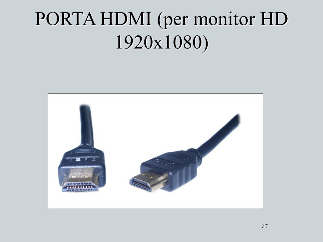 PORTA HDMI (per monitor HD 1920x1080) 37