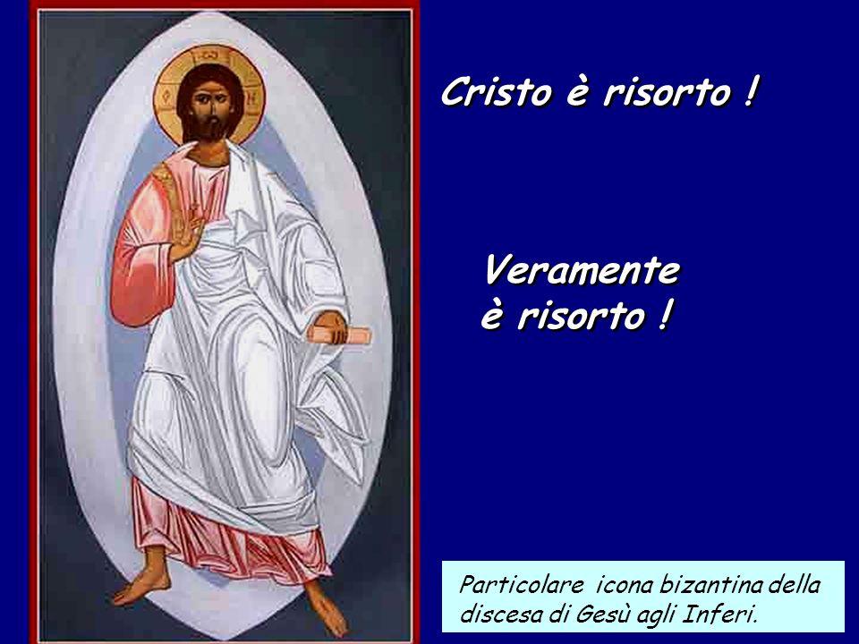 Cristo è risorto .Cristo è risorto . Veramente è risorto .