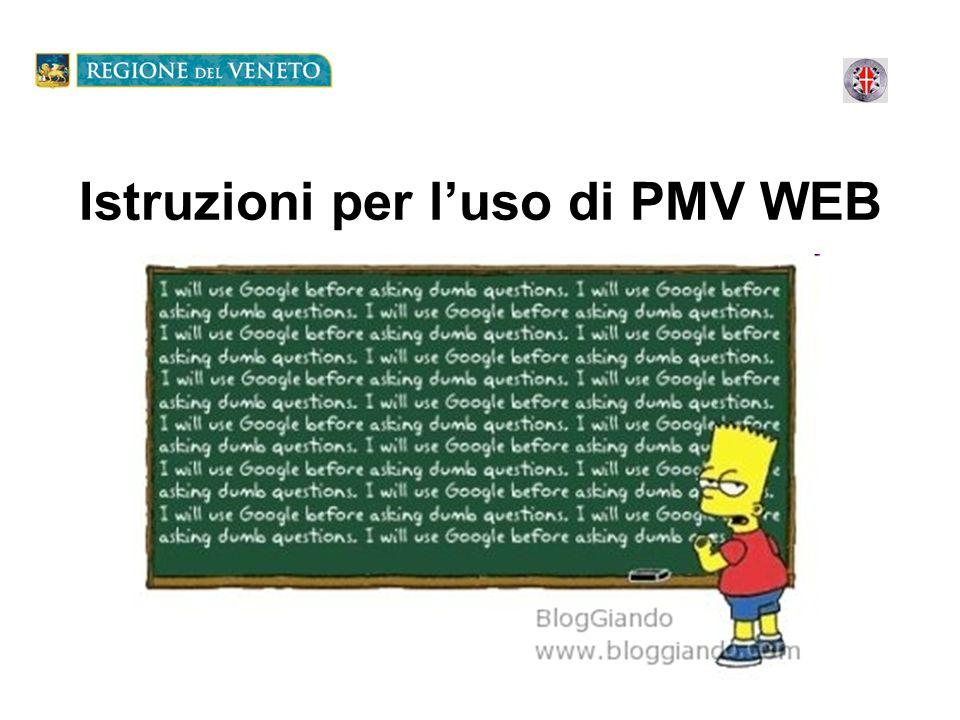 Istruzioni per luso di PMV WEB