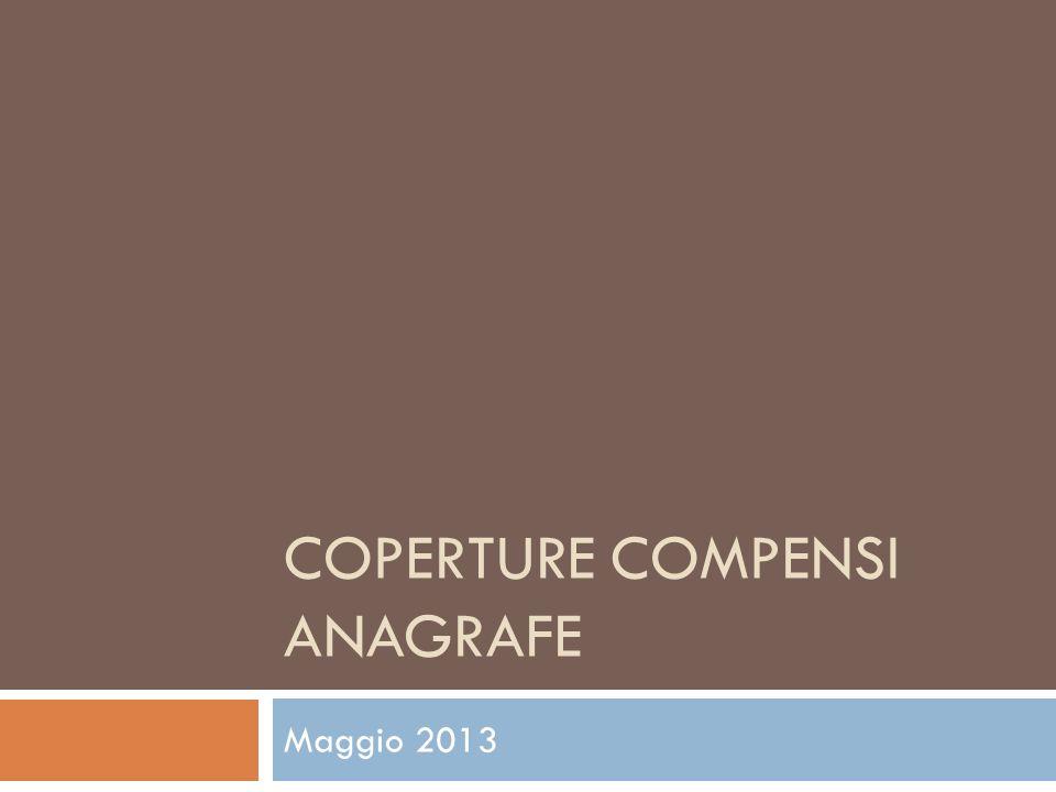 COPERTURE COMPENSI ANAGRAFE Maggio 2013