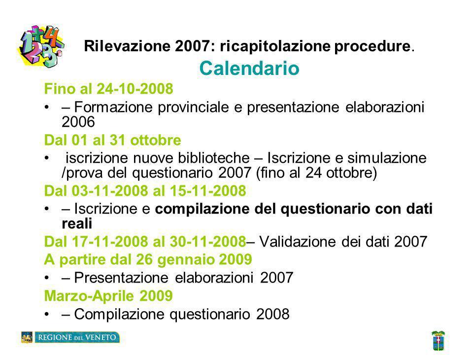 Rilevazione 2007: ricapitolazione procedure : Sostituzione del responsabile