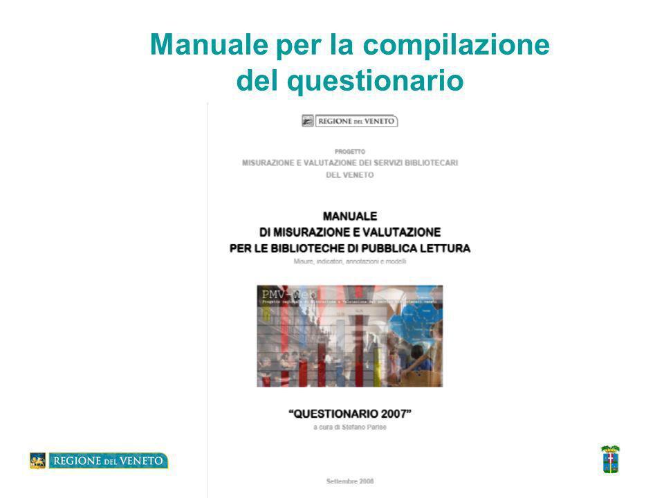 Manuale per la compilazione del questionario