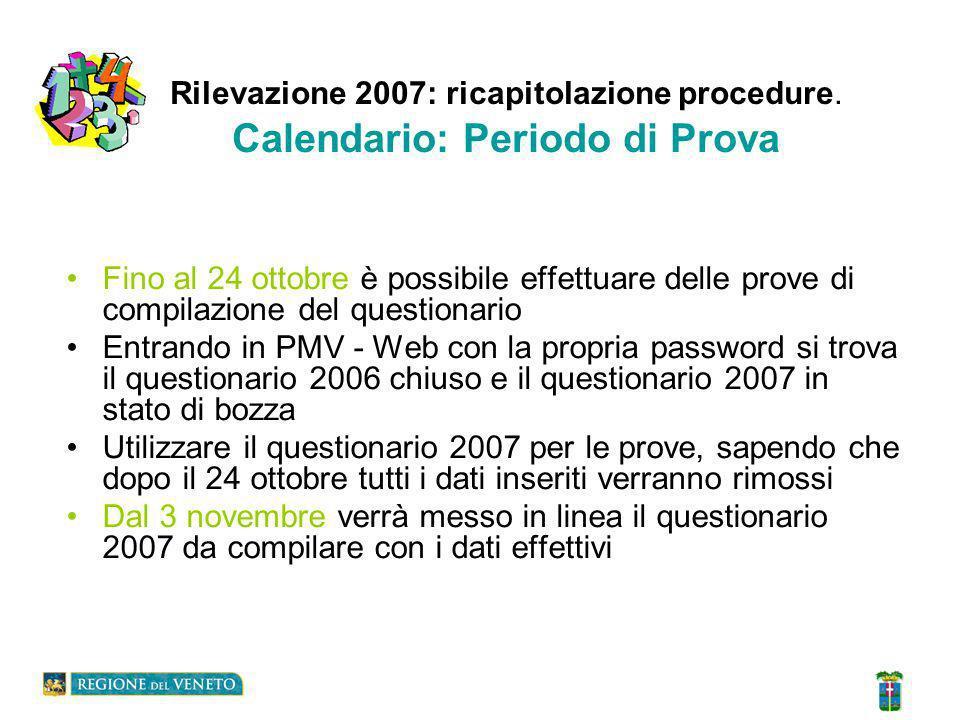 Rilevazione 2007: ricapitolazione procedure Bibliotecario e Compilatore.