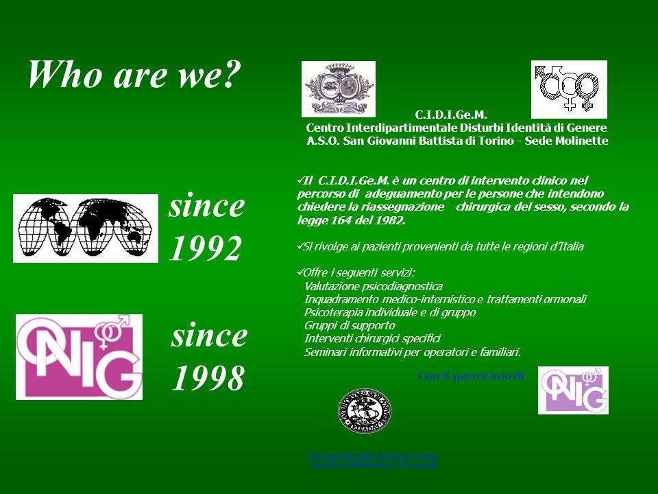 C.I.D.I.Ge.M. Centro Interdipartimentale Disturbi Identità di Genere A.S.O. San Giovanni Battista di Torino - Sede Molinette Il C.I.D.I.Ge.M. è un cen