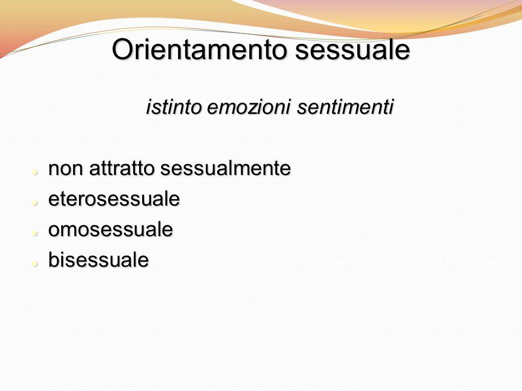 Orientamento sessuale istinto emozioni sentimenti non attratto sessualmente non attratto sessualmente eterosessuale eterosessuale omosessuale omosessu