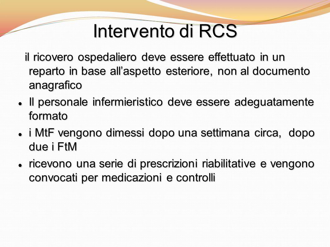 Intervento di RCS il ricovero ospedaliero deve essere effettuato in un reparto in base allaspetto esteriore, non al documento anagrafico il ricovero o